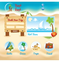 Beach sand background vector image vector image