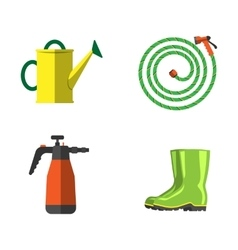 Garden equipment flat set vector image