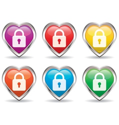 heart icon set vector image