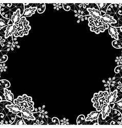 lace on black background vector image vector image