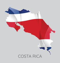 map of costa rica vector image