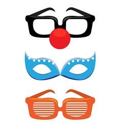 Masks set vector image vector image