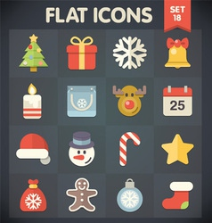 Christmas universal flat icons for web and mobile vector