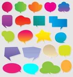 Colorful communication bubbles vector image