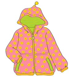 girls jacket vector image vector image
