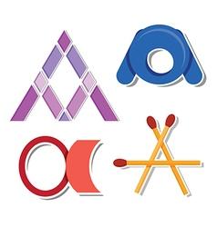 letter A design vector image vector image