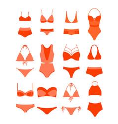 woman summer bikini set vector image