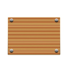 wooden board copy vector image vector image