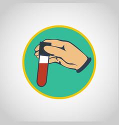 blood test logo icon design vector image vector image