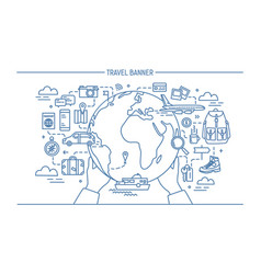 concept of travel and tourism horizontal vector image vector image