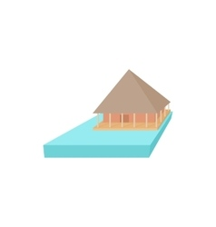 Floating house icon cartoon style vector image vector image