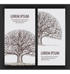 Tree without leaves Nature or Ecology Hand drawn vector image