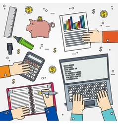 Accounting thin line icon vector image