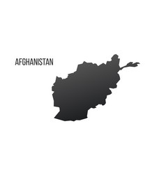 afghanistan map icon isolated on white background vector image