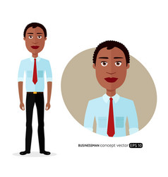 african american business man with natural hair vector image