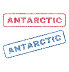 antarctic textile stamps vector image