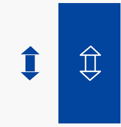 arrow arrows up down line and glyph solid icon vector image
