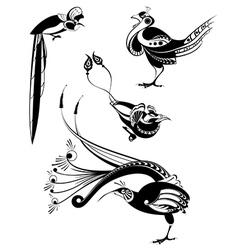 art birds set vector image