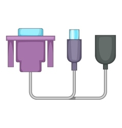 Audio cable icon cartoon style vector