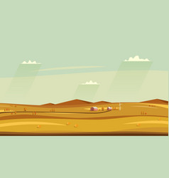 autumn counryside landscape horizontal rural vector image