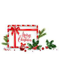 Balls and holly frame vector