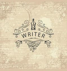 banner on a writers theme on abstract background vector image