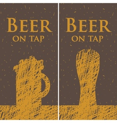 beer on tap vector image vector image