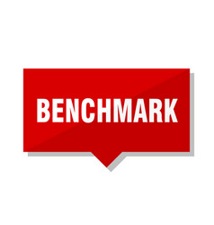 Benchmark red tag vector