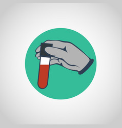Blood test logo icon design vector