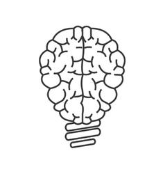 Brain lightbulb icon vector