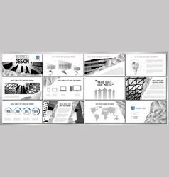Business presentation template design - hd format vector