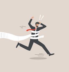 Businessmen ran into debt man is in debt vector