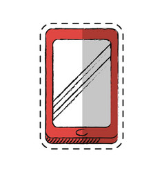 Cartoon smartphone technology communication icon vector