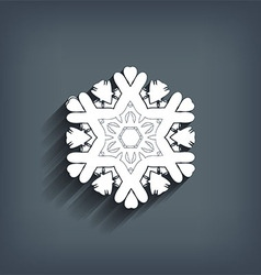 Christmas background with snowflakes and strips vector image