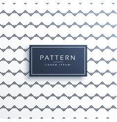 Clean minimal zigzag style pattern design vector
