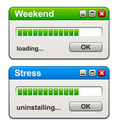 Computer windows weekend loading stress vector