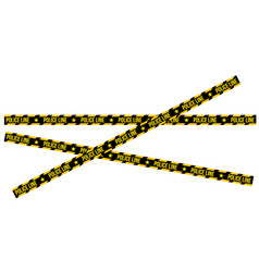 crossed police line tapes for restriction and vector image