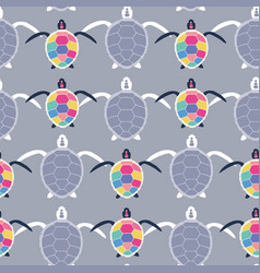 cute multicolor seamless pattern stylized vector image