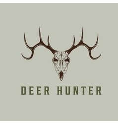 deer skull design template vector image