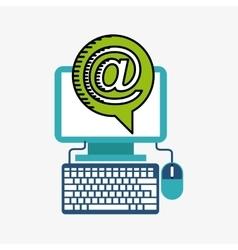 Desktop computer technology icon vector