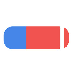 eraser icon flat style vector image