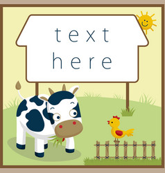funny farm animals cartoon vector image