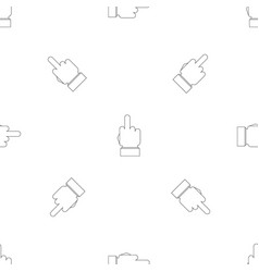 gesture pattern seamless vector image