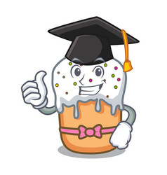 Graduation easter cake character cartoon vector