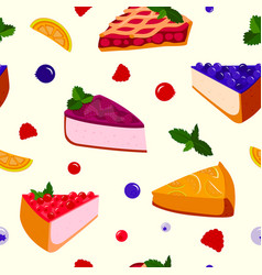 Homemade organic pie dessert vector