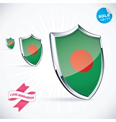 I Love Bangladesh Flag vector image