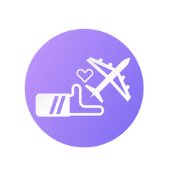 Icon design for travel insurance in flat style vector