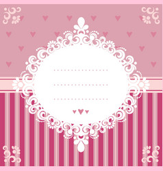 invitation card in pink tones vector image