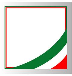 italian flag corner border vector image