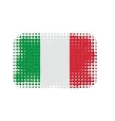 Italy flag halftone vector